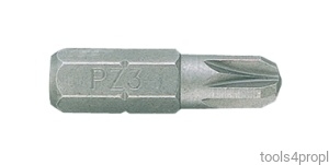 BIT 1/4'' POZIDRIV No.3 x 25mm King Tony 102503Z